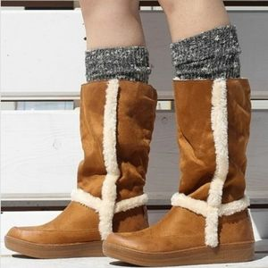 Camel Brown Fur Lined Boots